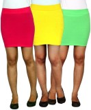 TeesTadka Solid Women's Straight Multico...