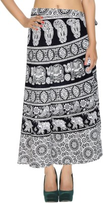 Fashionmandi Striped Women's Wrap Around Multicolor Skirt