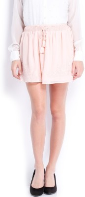 Anaphora Embroidered Women's Gathered Pink Skirt