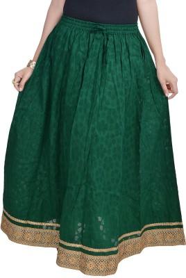 Prateek Exports Floral Print Women's Regular Dark Green Skirt