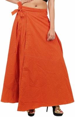 Indi Bargain Printed Women's Wrap Around Red, Yellow Skirt