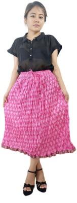 ShopMore Printed Women's Regular Blue Skirt