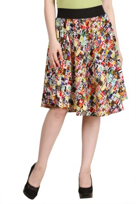 Modish Vogue Printed Women,s Regular Multicolor Skirt