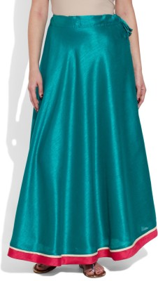 Very Me Solid Women's A-line Blue Skirt