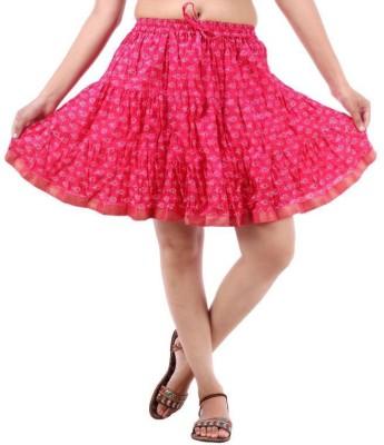 Vivancreation Embroidered Women's Regular Pink Skirt