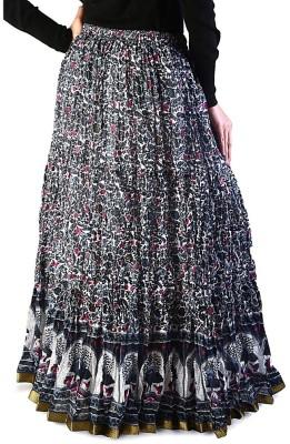 Jaipur Raga Printed Women's Regular Blue Skirt