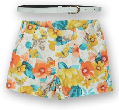 Lilliput Printed Girl's Regular Orange Skirt