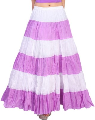 Carrel Solid Women's Broomstick Purple Skirt