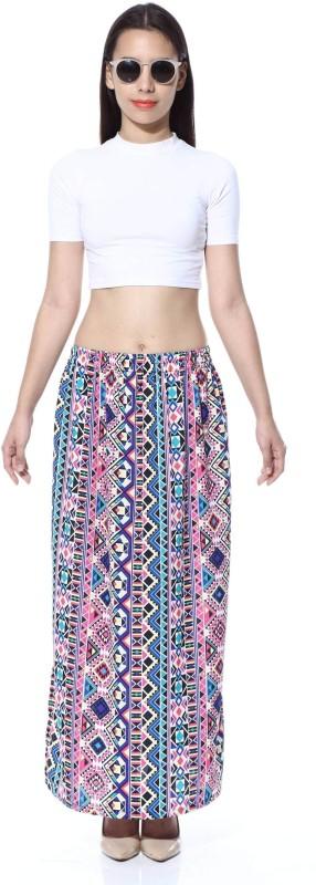 FabnFab Geometric Print Women's Pencil Multicolor Skirt