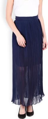 Tokyo Talkies Printed Women's Straight Dark Blue Skirt