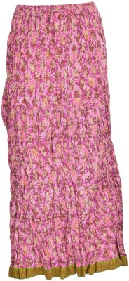 Freedom Daisy Printed Women's Regular Pink Skirt