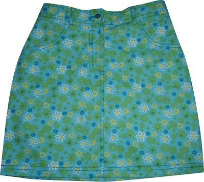 Eves Pret A Porter Floral Print Girl's A-line Blue Skirt