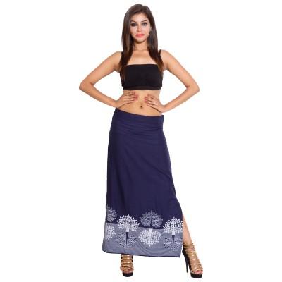 SML Originals Printed Women's Regular Blue Skirt