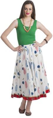 Bohemian You Floral Print Women's A-line Multicolor Skirt