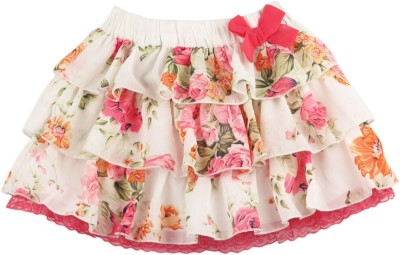 Mom & Me Floral Print Baby Girl,s Regular Multicolor Skirt
