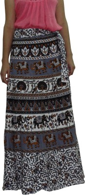 Freedom Daisy Printed Women's Regular Multicolor Skirt