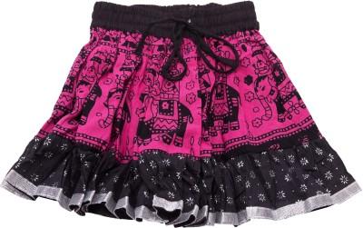 Sunshine Printed Baby Girl's A-line Pink Skirt