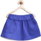 Yk Self Design Girls A-line Blue Skirt