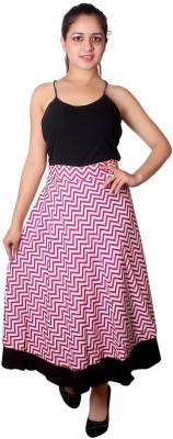 Dream fashion Chevron Women's Wrap Around Multicolor Skirt