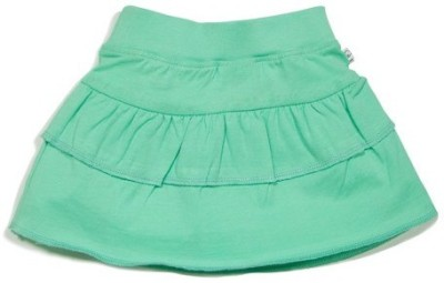 Solittle Solid Baby Girl's Layered Green Skirt
