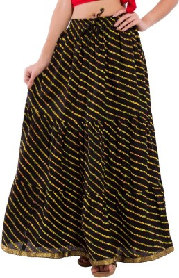 Decot Paradise Striped Women's Regular Black Skirt