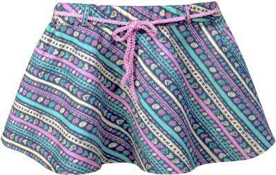 Caca Cina Striped Girl's Regular Multicolor Skirt