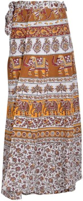 Freedom Daisy Printed Women's Wrap Around Multicolor Skirt