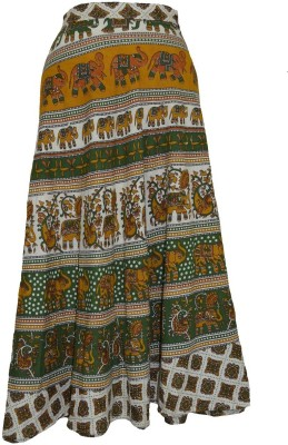 Pms Fashions Printed Women's Wrap Around Multicolor Skirt