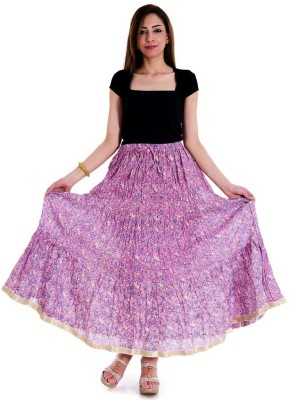 Halowishes Printed Women's Wrap Around Pink Skirt