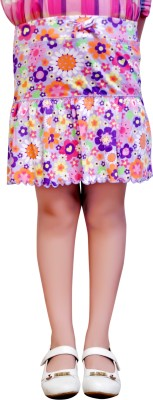 MC Printed Girls Gathered Multicolor Skirt