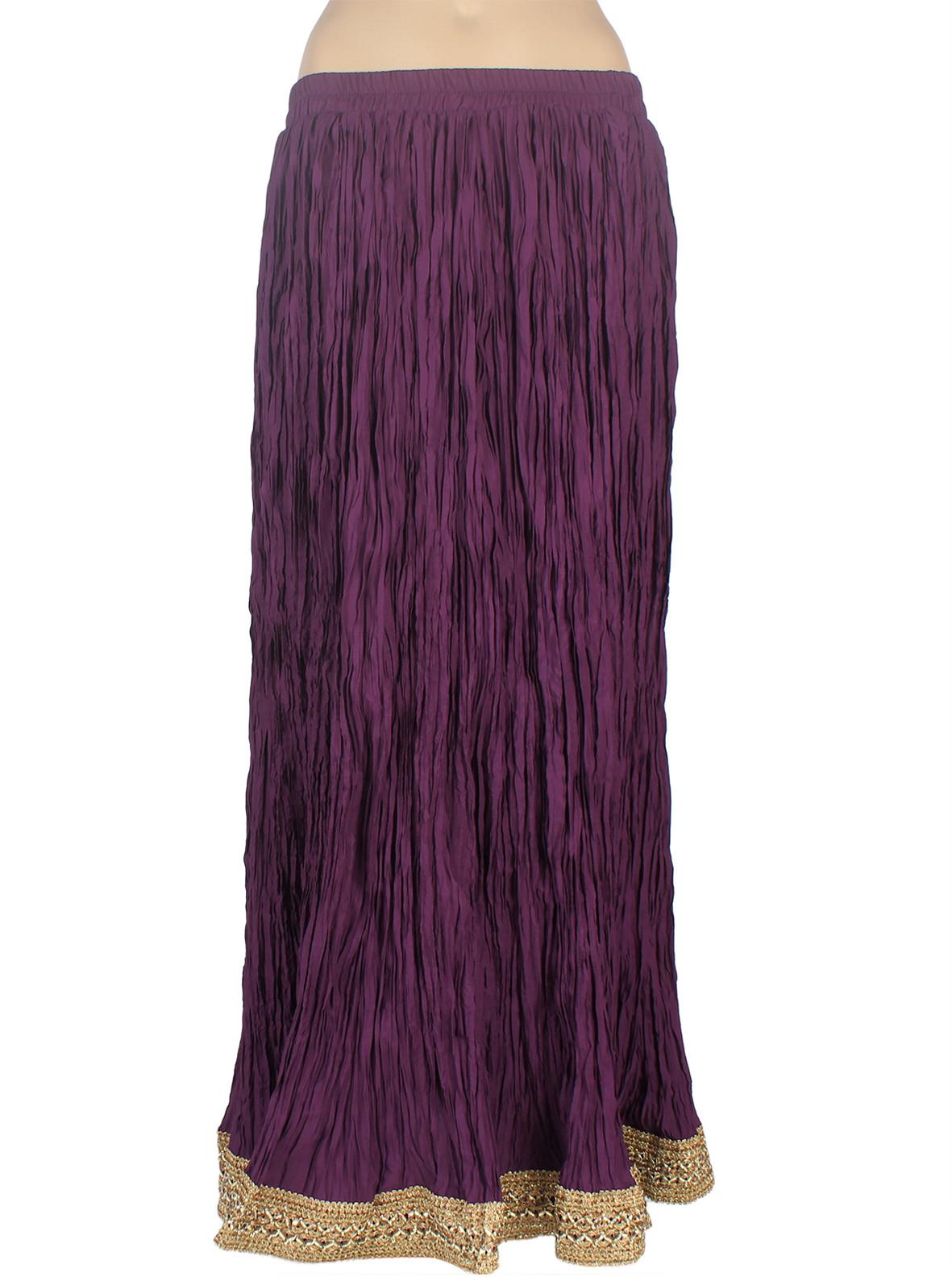 Mina Bazaar Solid Womens A-line Purple Skirt