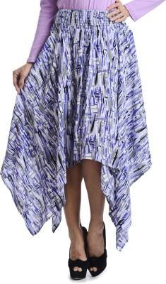 Bohemian You Printed Women's Asymetric Blue Skirt