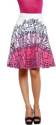 99Hunts Printed Women's A-line Multicolor Skirt