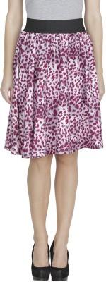 Shopping Villa Animal Print Women's A-line Purple Skirt