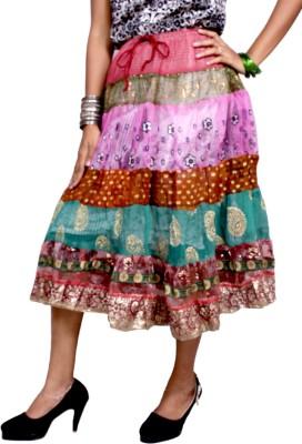 Krishna Mart Embroidered Women's Regular Multicolor Skirt