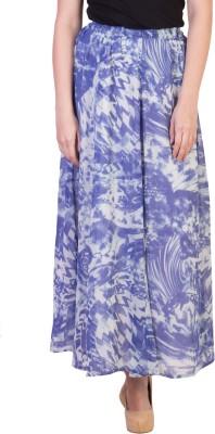 Damsel Self Design Women's A-line Blue Skirt