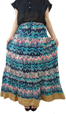 ShopMore Printed Women's Regular Multicolor Skirt