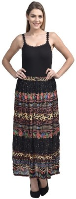 PINK SISLY Solid Women's Regular Multicolor Skirt