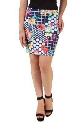 NOD Printed Women's A-line Blue Skirt