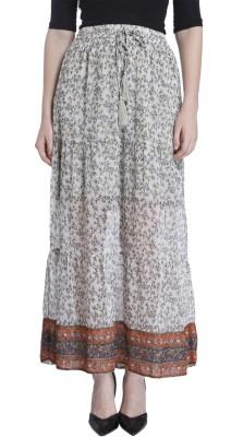 Vero Moda Printed Women's Straight Grey Skirt at flipkart