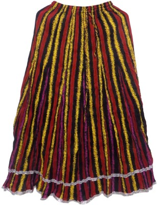 Jaipur Craft Shop Striped Women's Straight Multicolor Skirt
