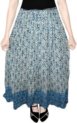 AS42 Paisley Women's Regular Blue, White Skirt