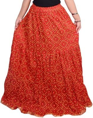 Decot Paradise Polka Print Women's Regular Red Skirt
