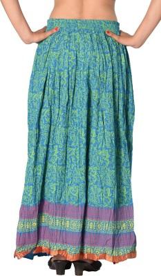 SBS Printed Women's Regular Light Blue Skirt