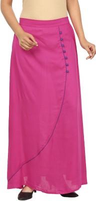 Pops N Pearls Solid Women's Tulip Pink Skirt