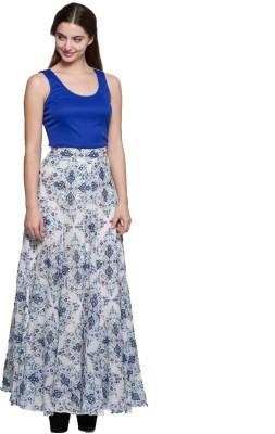 Tryfa Printed Women's Regular Multicolor Skirt