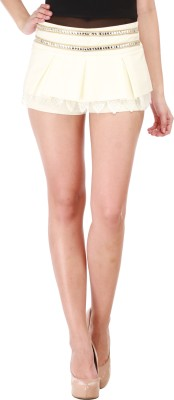 Star Style Solid Women's A-line Beige Skirt