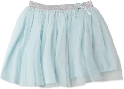 London Fog Solid Girl's Gathered Light Blue Skirt