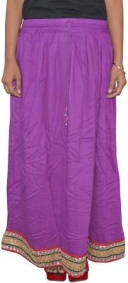 Shreeka Solid Women's Regular Purple, White Skirt