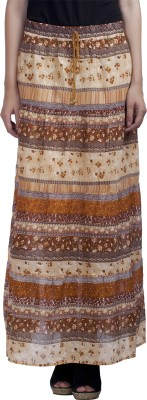 MansiCollections Printed Women's A-line Multicolor Skirt